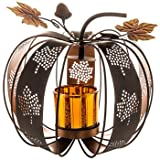 Pumpkin Metal Candle Holder Decoration Thanksgiving Home Accessories