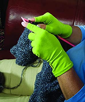 Dritz 14309 Supports During Crafting Kiwi Green Household Duties Crafters Comfort Glove-Small Quilting Knitting Sewing