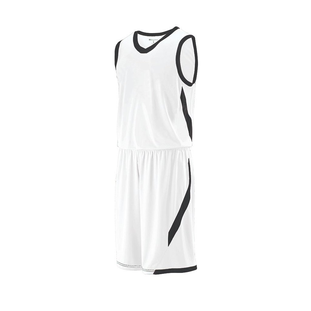 Holloway Youth Lateral Dry Excell Basketball Jersey (Youth Medium, White/Black) by Holloway