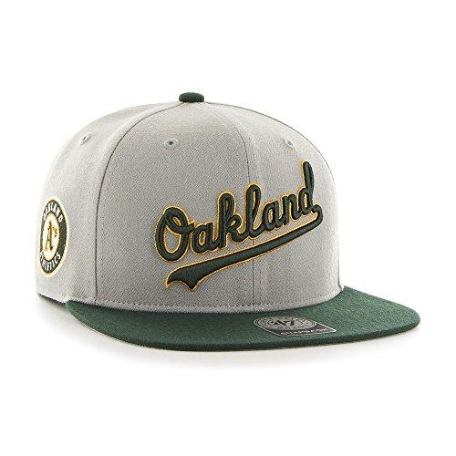 a3ae71b4fcccc El servicio durable Gorra plana gris snapback con logo lateral de MLB  Oakland Athletics de 47
