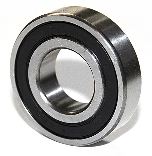 DOUBLE SEALED EMQ BEARINGS For 6200 SERIES No. 6203-2RS-12, 3/4'' I.D X 1.57'' O.D and 0.47 Width With 2 Rubber Seals and 2 Steal Shields, 150221