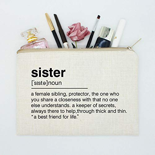 Sister Birthday Gift, Makeup Case, Sister Toiletry Bag, Sister Gift Bag, Sister Definition Quote, Cosmetic Bag, Best Friend Gift