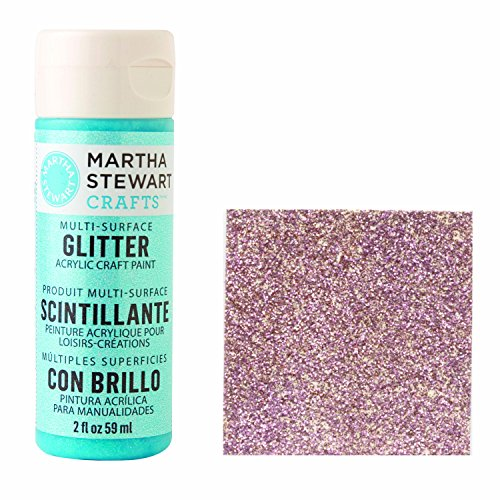 Martha Stewart Crafts Acrylic Glitter Paint in Assorted Colors (2-Ounce), 32173 Rose Quartz ()