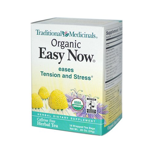Traditional Medicinals Organic Fair Trade Certified Easy Now Herbal Wrapped Tea Bags- 16 ct, 6 pk