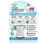 TubShroom Chrome Edition Revolutionary Tub Drain Protector Hair Catcher, Strainer, Snare