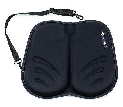 Amigo Travel Seat Cushion Gel Foam Portable Cushion Folds In