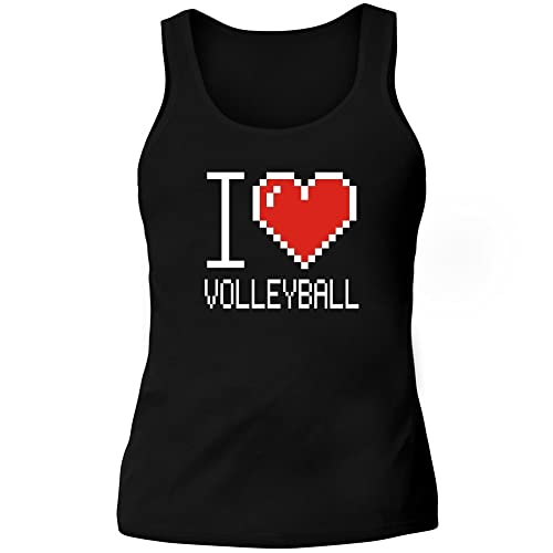 Idakoos I love Volleyball pixelated - Sport - Canotta Donna