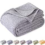 Best Lightweight Blanket For King Size Beds - Kawahome Original Woven Blanket(king Size, Grey and White) Review
