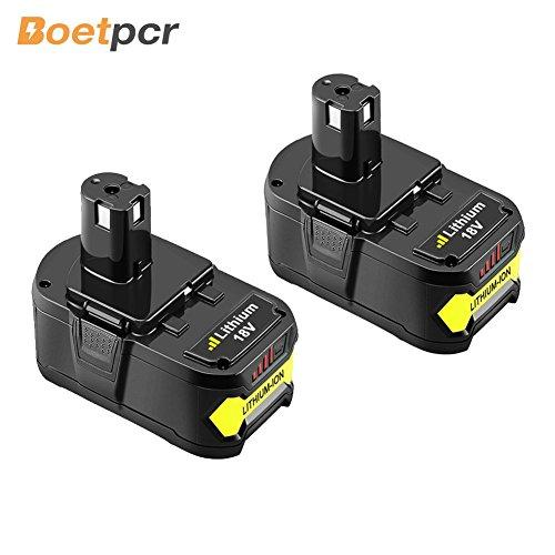 Boetpcr P108 Replacement for Ryobi 18V Lithium Battery 4.0Ah One Plus P122 P102 P103 P104 P105 P107 P109 Cordless Power Tools 2Pack