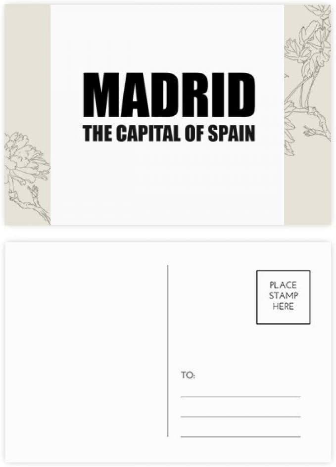 DIYthinker Madrid, la capital de España Tarjeta Postal de la flor Gracias Conjunto de correo lateral 20Pcs 5,7 pulgadas x 3,8 pulgadas Multicolor: Amazon.es: Oficina y papelería