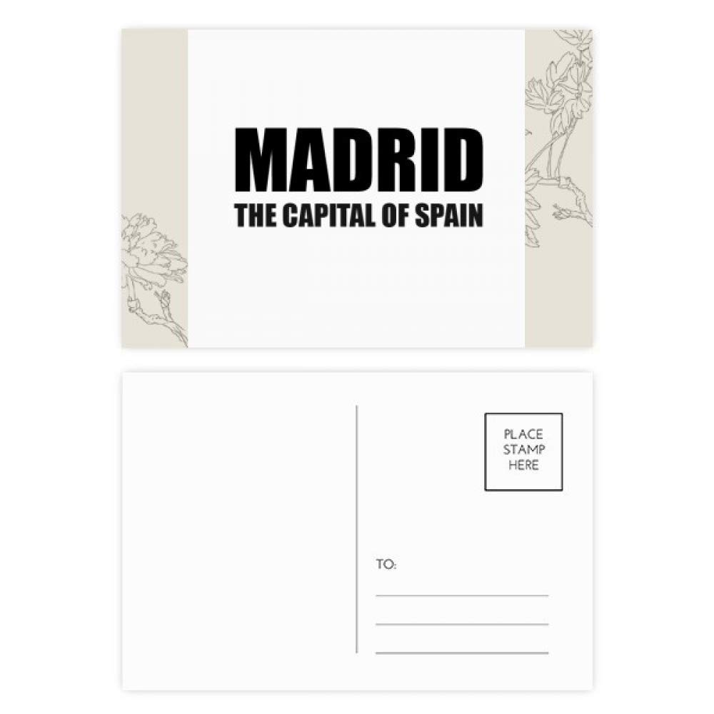 Madrid The Capital Of Spain Flower Postcard Set Thanks Card Mailing Side 20pcs