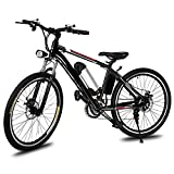 Leoneva 26 Inch Electric Bike Mountain Bike With 250W 36V Removable Lithium-Ion Battery,21-Speed Transmission System Fork Dual Disc Brakes For Sale