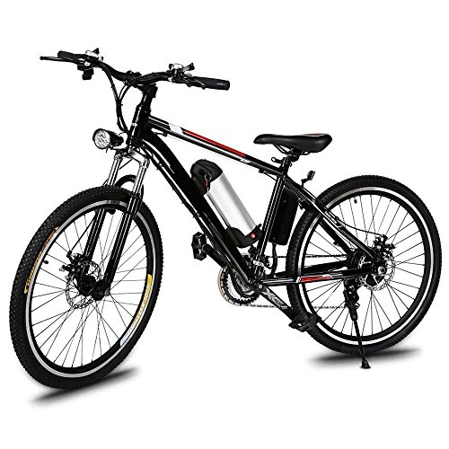 Leoneva 26 Inch Electric Bike Mountain Bike With 250W 36V Removable Lithium-Ion Battery,21-Speed Transmission System Fork Dual Disc Brakes