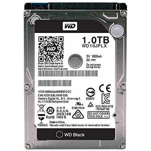 WD Black 1TB Performance Mobile Hard Disk Drive - 7200 RPM SATA 6 Gb/s 32MB Cache 9.5 MM 2.5 Inch - WD10JPLX