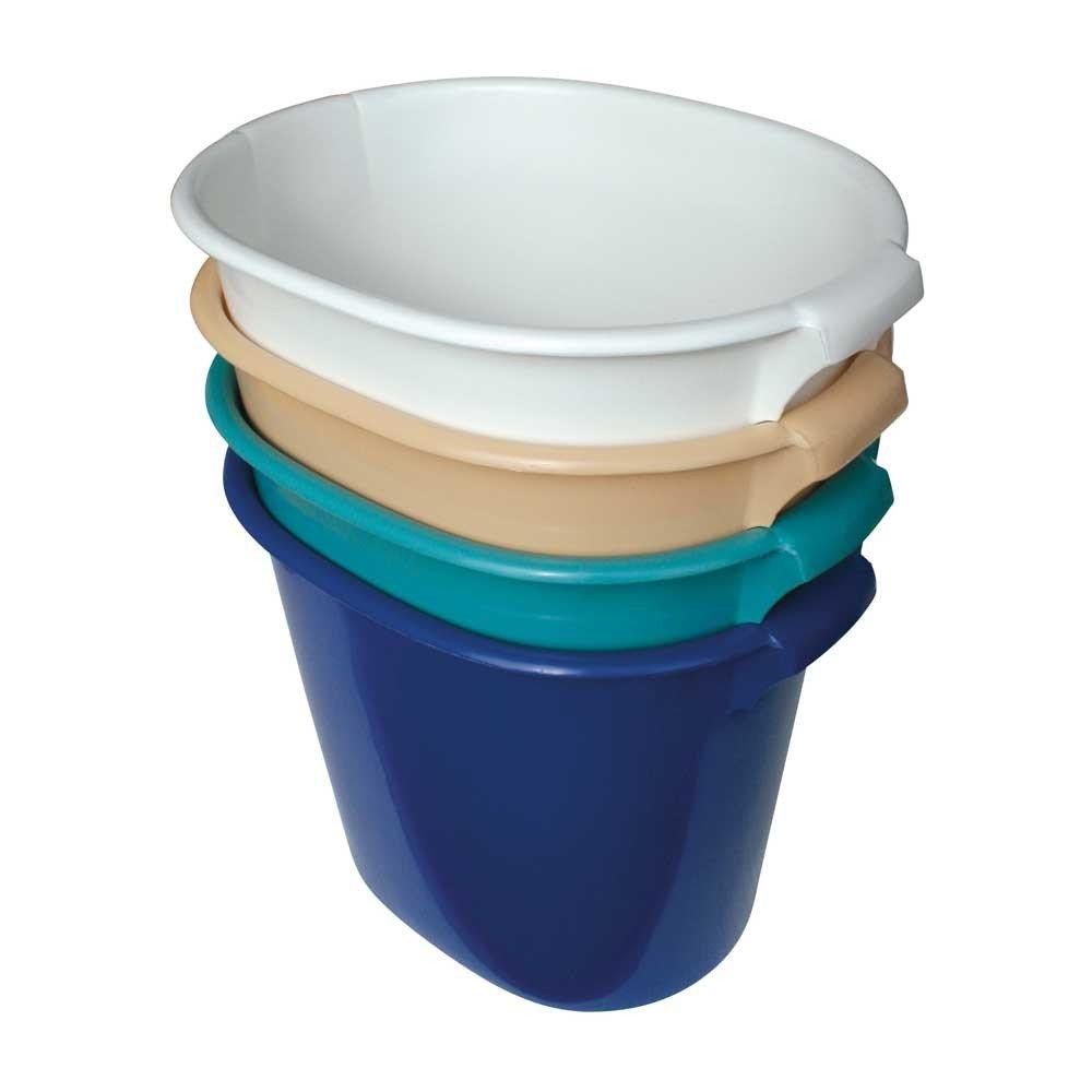 1x Behrend Fußadewanne Fußwanne Fußbad Waschwanne, oval 48x35x40cm, blau WILLY BEHREND