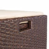 Barton Outdoor Storage Bench Rattan Style Deck Box