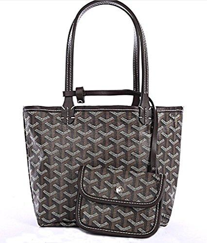 rosvin-lady-pu-one-shoulder-top-grade-shopping-handbagblack