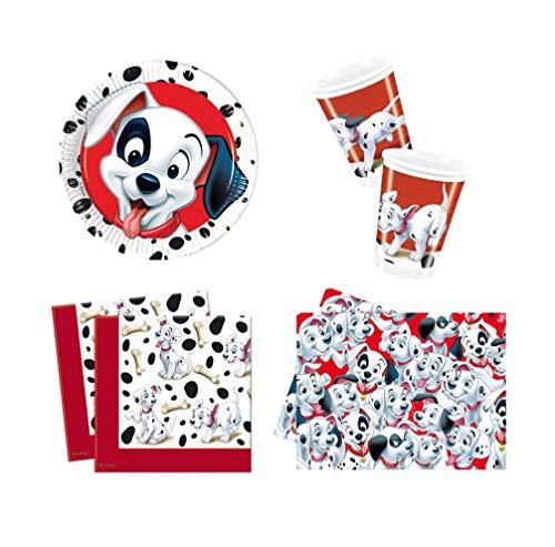 (Disney 101 Dalmatians 4 Piece Party Set - Plates, Plastic Cups, Napkins &)