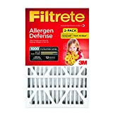 16x24x4 furnace filter - Filtrete MPR 1000 16 x 25 x 4 (4-3/8 Actual Depth) Micro Allergen Defense Deep Pleat HVAC Air Filter, Attracts Small Particles like Pollen & Pet Dander, Guaranteed Airflow up to 12 months, 2-Pack