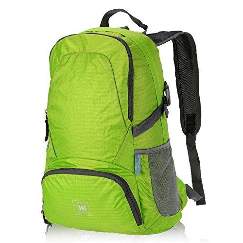 Batsomer Foldable Backpack 30L Waterproof Bag Climbing Backpack Rucksack Cycling Outdoor Bag Women Men Travel Hiking Shoulder Bag Green by Batsomer