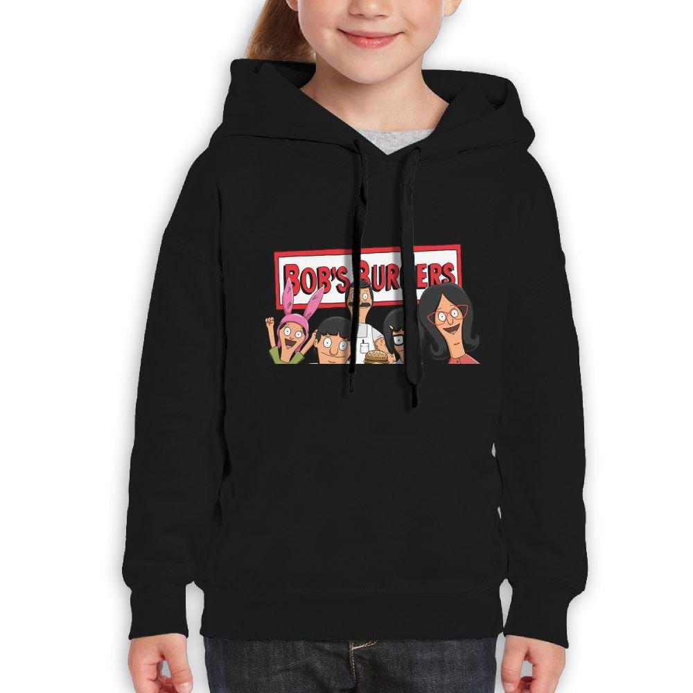 Avis N Youth Hoodie Bob's Burgers Casual Unisex Hooded Sweatshirt  Black M