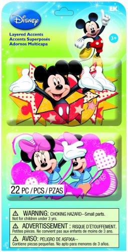 EK Success Brands Disney Layered Accents, Mickey Family Ek Success Disney Mickey Mouse