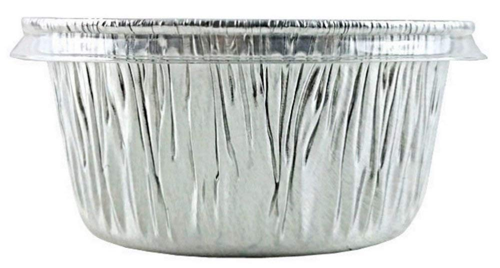 Pactogo 4 oz. Aluminum Foil Cup w/Clear Plastic Lid - Disposable Utility/Cupcake/Ramekin/Muffin Baking Tins (Pack of 300 Sets) by PACTOGO (Image #6)