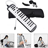 Melodica instrument,NASUM 32 Key Piano Style Melodica,Melodica keyboard Suitable for Teaching and Playing,with Carrying Case (Black)