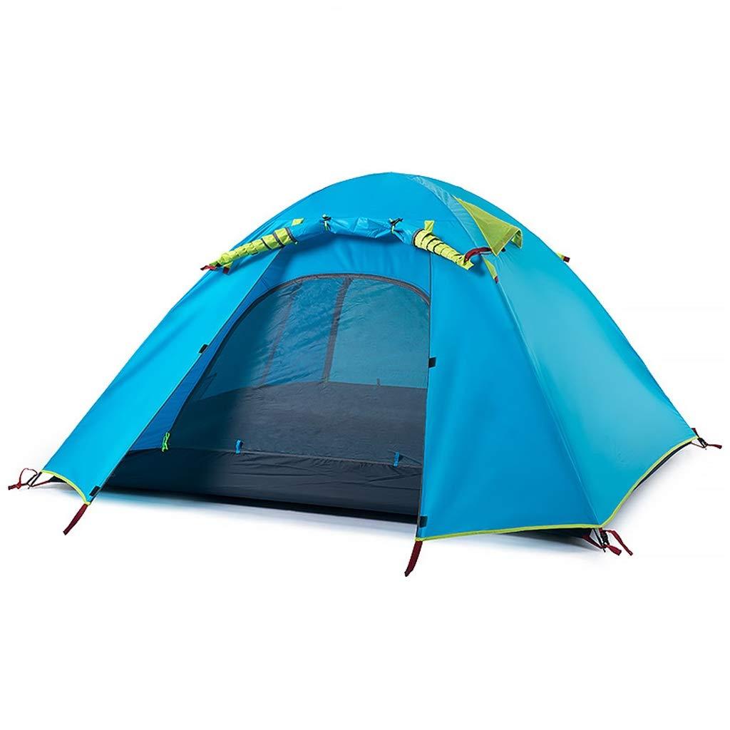 CATRP Marke Camping Zelt Doppelschicht Wasserdicht Sonnencreme 2-4 Mann Draussen Licht Familienzelt, 3 Größen (größe   3 Man)