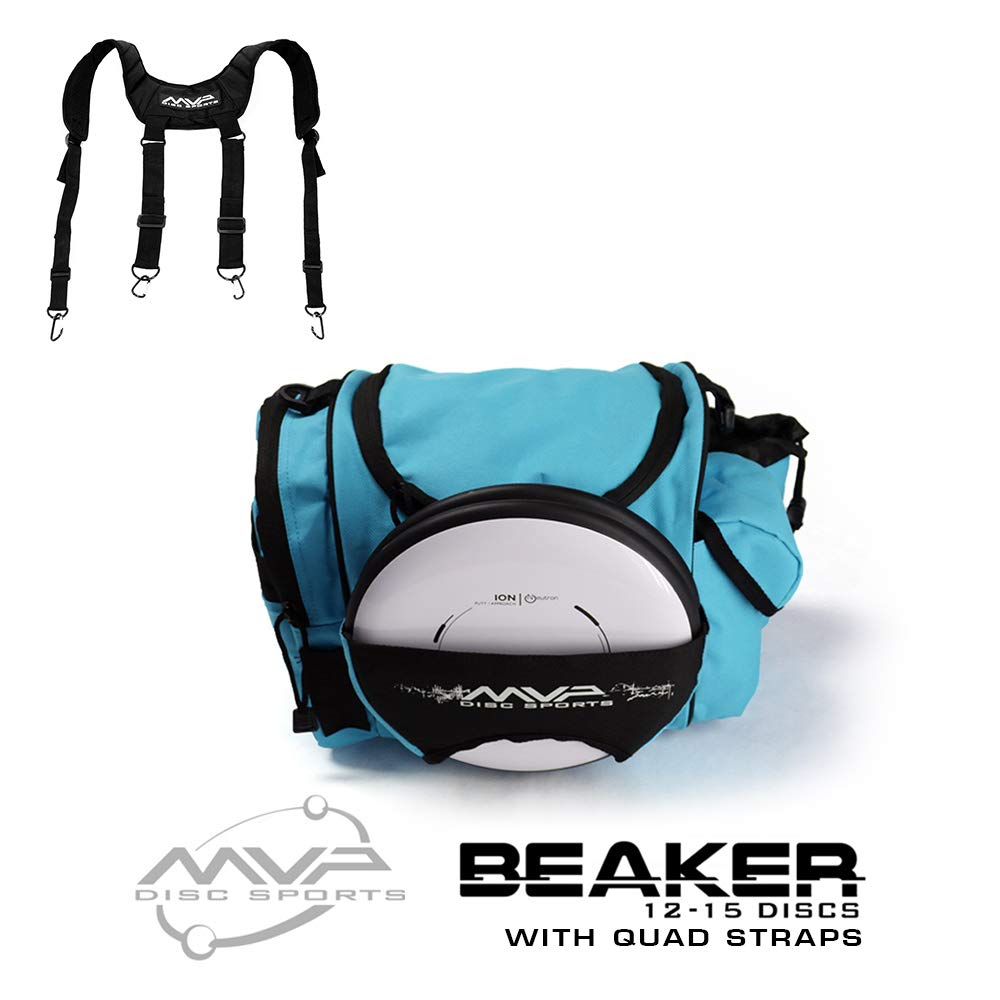 MVP Disc Sports MVP Beaker Competition Disc Golf Bag + Quad Straps - Teal by MVP Disc Sports