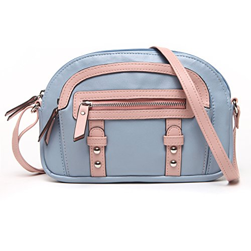 UU PU Minibag Women Handbag Pink Cross Leather Colorblock Body Cornflower Family qUTUZ