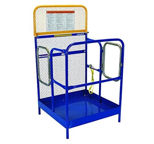 Vestil WP-3636-DD Steel Work Platform, 1000 lb Capacity, 36'' x 36'' with Double Doors, Powder Coat Blue, not for use in California by Vestil