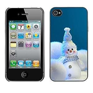 YOYO Slim PC / Aluminium Case Cover Armor Shell Portection //Christmas Holiday Happy Snow Man 1217 //Apple Iphone 4