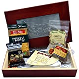 Smoked Salmon Gift Box with Salmon, Crackers, Cashews, Peanut Brittle and Chocolate Espresso Beans