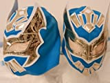 SIN CARA Kids Youth Size Blue/Gold Wrestling MASK