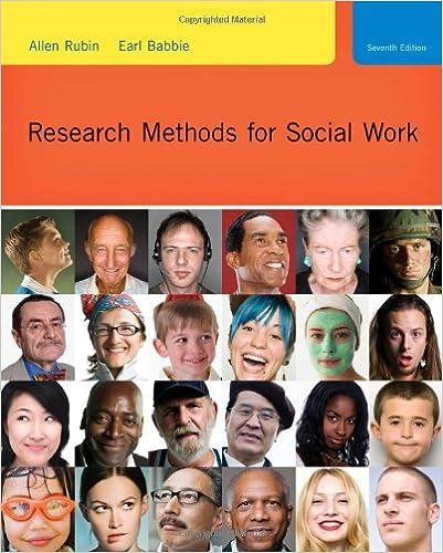 Research Methods For Social Work SW 385R Social