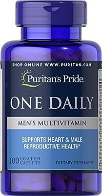 Puritan's Pride One Daily Men's Multivitamin-100 Caplets