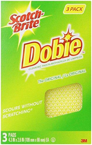 3M Scotch-Brite Dobie All Purpose Pad, 3 Count