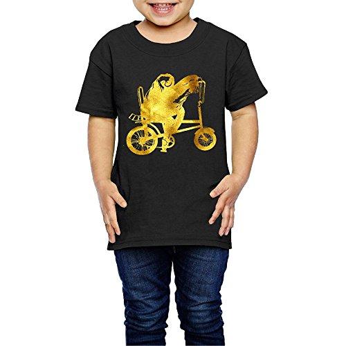 Golden Sloth Riding Bike Boys' Girls' Cotton Short Sleeve T-Shirt 2 (Bike Cotton Shirt)
