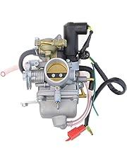 GOOFIT Carburador Moto, 30mm PZ30 con Electrónico de Acelerador 4 Tiempos Pit Bike Cross para 250cc CF250 CN250 CH125 CH150 ATV Quad Pocket Bike Go Kart Motor Ciclomotor y Scooter Plata