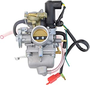 GOOFIT Carburetor for Honda Helix CN250 Elite CH125 CH150 Hammerhead Jonyer Carter Brother Baja Roketa 250ccTouring Scooter Go Kart