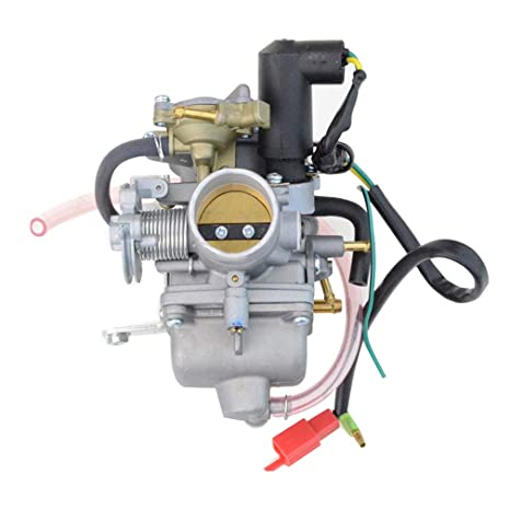 GOOFIT Carburador Moto, 30mm PZ30 con Electrónico de Acelerador 4 Tiempos Pit Bike Cross para 250cc CF250 CN250 CH125 CH150 ATV Quad Pocket Bike Go ...