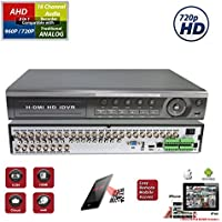 Evertech 32 Channel H.264 HD 720P Analog High Definition HDMI Standalone DVR Recorder for Security Surveillance Systems NO HDD