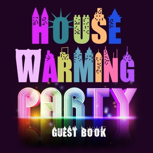 House Warming Party Guest Book: Purple Message Book for Visitors to Write In & Leave Comments 150 Pages, Perfect New Home & First Home Gift (New Home Books) (Volume 20)