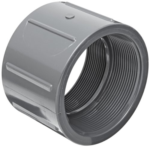 Spears 830 Series PVC Pipe Fitting, Coupling, Schedule 80, 1/2