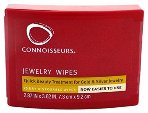 Connoisseurs Jewelry Dry Disposable Wipes 25 Count (3 Pack)