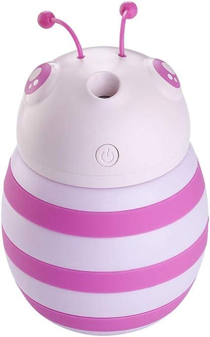 TaoRan Humidificador USB Lindo de la Abeja purificador de Aire de Escritorio del Coche de la lámpara de respiración Colorida Rosada-Rosa: Amazon.es: Hogar