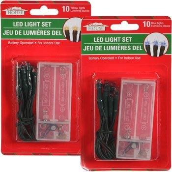 Amazon.com: Christmas House 10 Bulb LED Battery Powered Light Set ...
