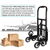 Stair Climber Hand Truck, Solid Rubber/Foam TIRES-440LBS Barrow Hand Truck Bracket Roll Cart Trolley Garden Tool Home Use (#3)