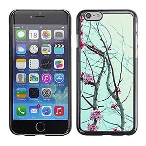 For Apple iPhone 6 Plus(5.5 inches)Case , Flowers Petals Blooming Tree Cherry - Diseño Patrón Teléfono Caso Cubierta Case Bumper Duro Protección Case Cover Funda